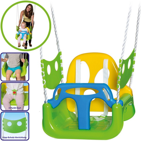 Kinderschaukel 3in1 (Grün-Gelb)