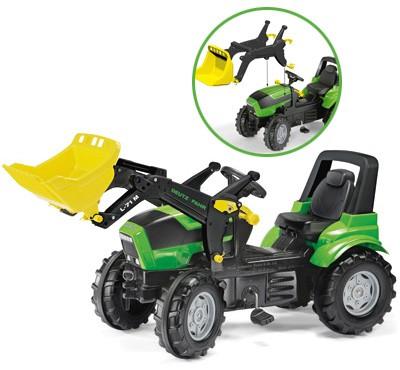 RollyFarmtrac Premium Deutz-Fahr Agrotron Traktor mit Frontlader (Grün)