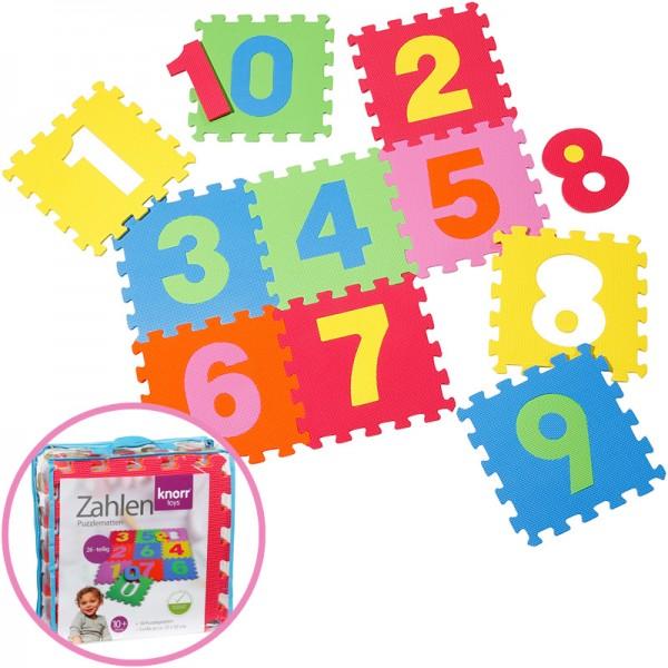 EVA Schaumstoff Puzzlematten Zahlen 10-teilig (Bunt)