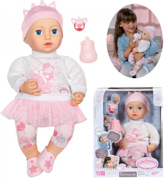Baby Annabell Sweet Dreams Puppe Mia 43 cm (Rosa-Weiß)