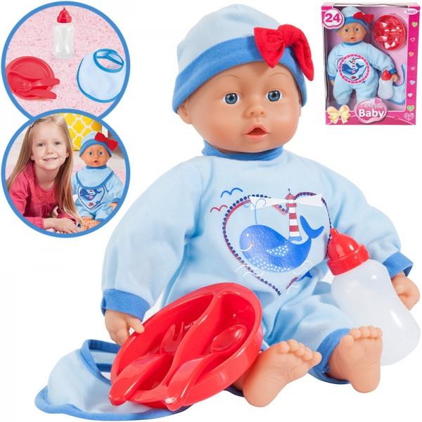 Babypuppe I Love You 38 cm (Blau-Rot)
