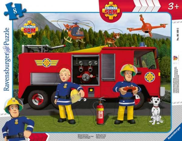 Rahmenpuzzle Feuerwehrmann Sam Rettung durch Sam mit 8 Teilen