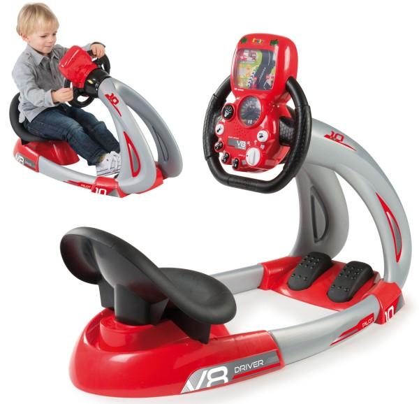 Fahrsimulator Pilot V8 Driver mit Smartphonehalter (Rot)