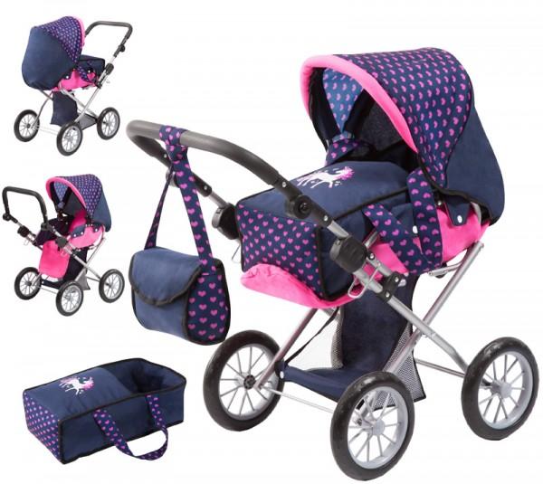 Puppenwagen City Star Einhorn (Blau-Pink)