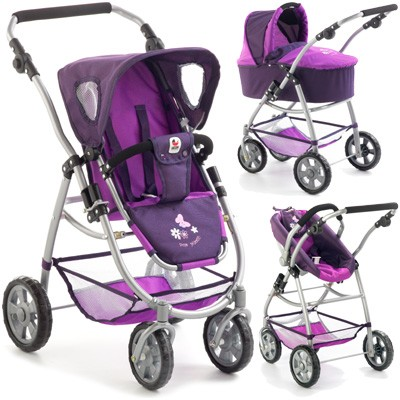 Puppenwagen Emotion All In 3in1 (Pflaume)