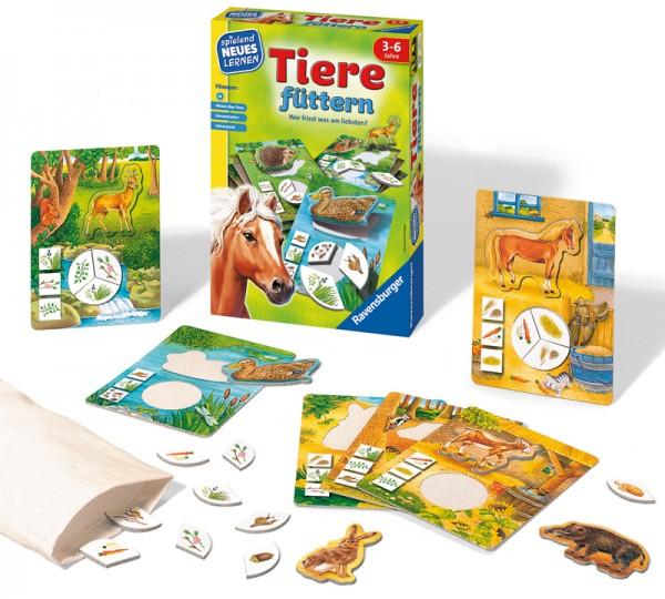 Kinderspiel Tiere Füttern