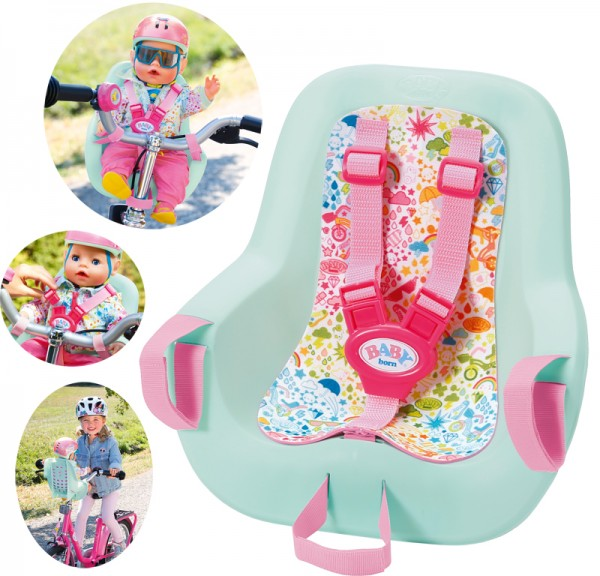 Baby Born Play&Fun Fahrradsitz 43 cm (Mint-Rosa)